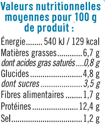 Encornets à l'Américaine - Nutrition facts