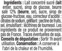 Caramel à tartiner - Ingrédients - fr