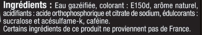 Cola zéro - Ingrédients - fr