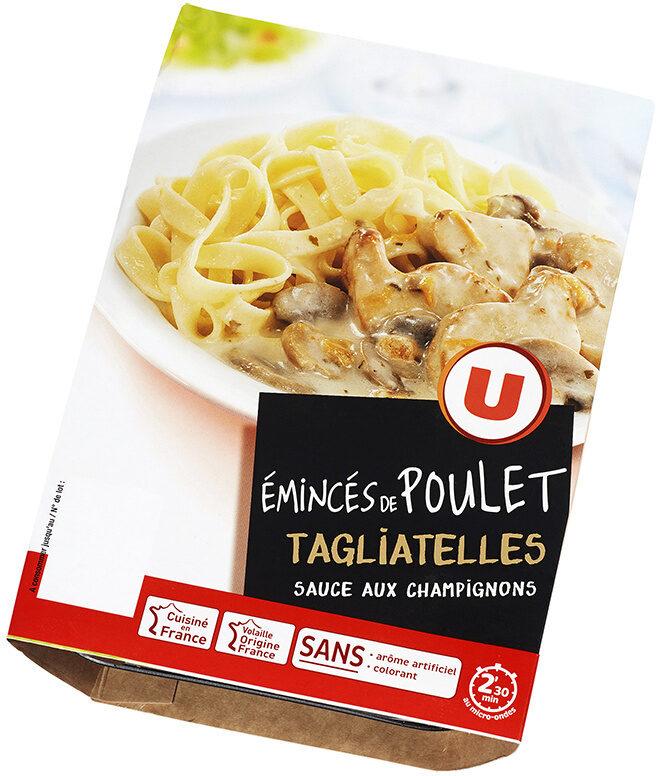Emincés de poulet sauce champignons et tagliatelles - Product