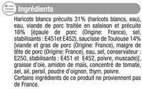 Cassoulet Toulousain - Inhaltsstoffe