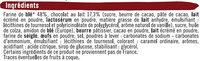 Sablés fourrés parfum chocolat noisettes - Ingredients - fr