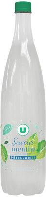 Boisson gazeuse à base d'eau minérale naturelle pétillante saveur menthe zéro sucre - Produit