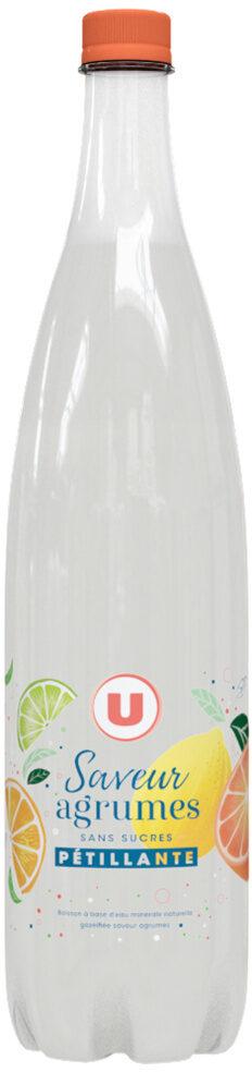 Boisson gazeuse à base d'eau minérale naturelle pétillante saveur agrumes zéro sucre - Prodotto - fr