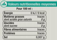Boisson gazeuse à base d'eau minérale naturelle pétillante saveur agrumes zéro sucre - Informazioni nutrizionali - fr