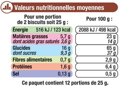 Petit Beurre Tablette Chocolat au Lait - Voedingswaarden - fr