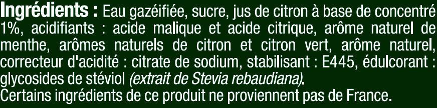 Soda saveur Mojito - Ingrédients - fr