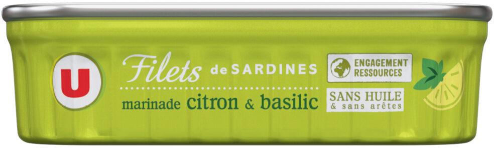 Filets de sardines marinade citron et basilic - Produit