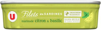 Filets de sardines marinade citron et basilic - Produit - fr