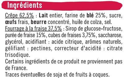 Crêpes fourrées à la fraise - Ingrédients