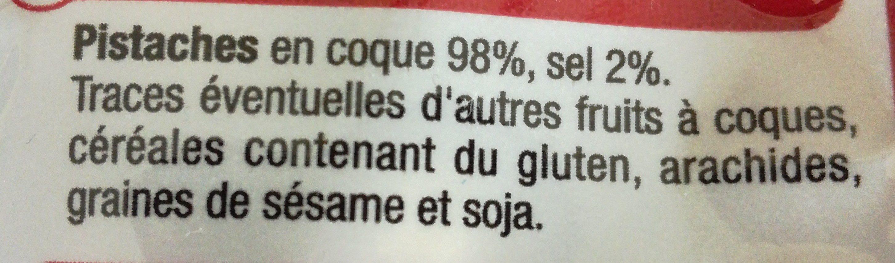 Pistache coque grillée salée - Ingredients - fr