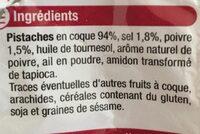Pistache coque Sel & Poivre - Ingredients - fr