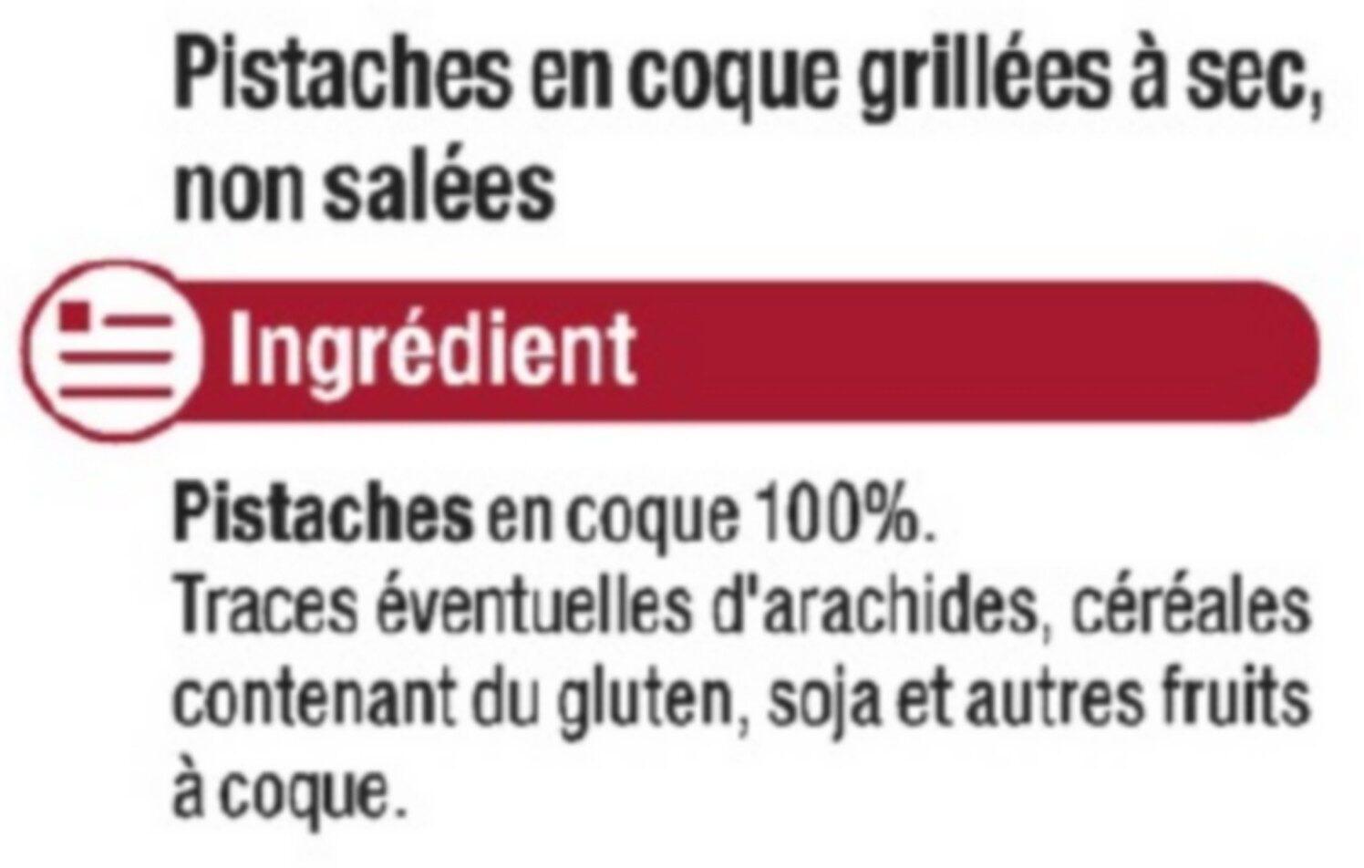 Pistache sans sel - Ingredients - fr