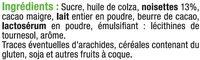Pâte à tartiner aux noisettes sans huile de palme - Ingrédients - fr