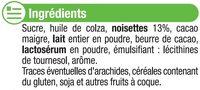 Pâte à tartiner sans huile de palme - Ingredients - fr