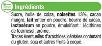 Pâte à tartiner sans huile de palme - Ingredienti - fr