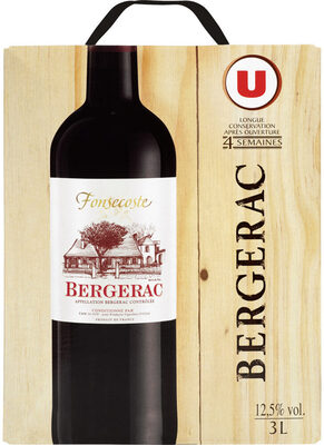 Vin rouge AOC Bergerac Fonsecoste - Product - fr