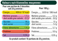 Biscottes Müesli - Nutrition facts