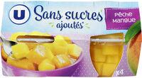 Coupelles pêche et mangue sans sucre ajoutés - Produit - fr