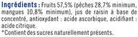Coupelles pêche et mangue sans sucre ajoutés - Ingrédients - fr