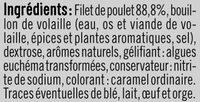 Blanc de poulet teneur sel réduit - Ingrédients - fr