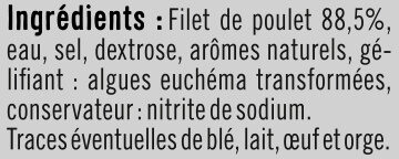 Blanc de poulet fumé au bois hêtre - Ingredients - fr