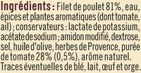 Filet de poulet à la provençale - Ingrédients - fr