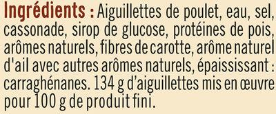 Aiguillettes de poulet rôti au four - Ingrédients