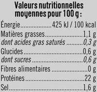 Filet de poulet cuit au four - Informations nutritionnelles - fr