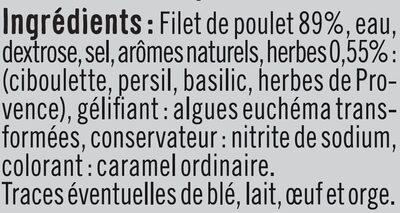 Rôti poulet fines herbes - Ingrediënten - fr