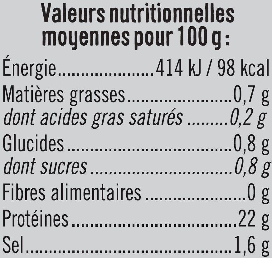 Rôti poulet fines herbes - Voedingswaarden - fr