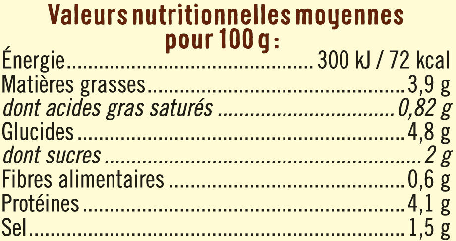 Bisque de homard à délayer - Informations nutritionnelles - fr