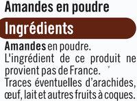 Amandes en poudre - Ingrédients