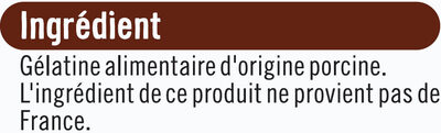 Gélatine alimentaire - Ingredients - fr