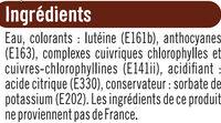 Colorants - Ingrédients - fr