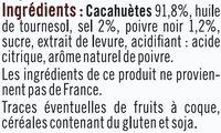 Cacahuètes grillées sel et poivre - Ingrediënten - fr