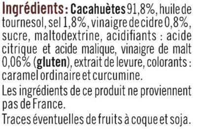 Cacahuètes grillées sel et vinaigre - Ingrediënten