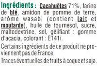 Cacahuètes enrobées saveur wasabi - Ingredients - fr