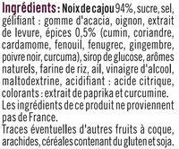 Noix de cajou indian spice - Ingredients - fr