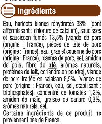Cassoulet - Ingrediënten