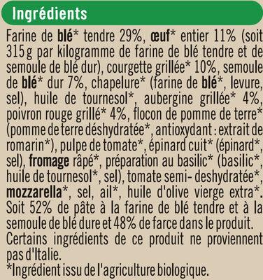 Tortellini aux légumes grillés - Ingrediënten