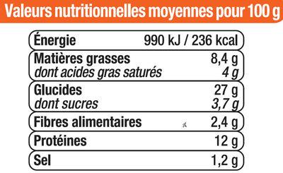 Pizza bolognaise au boeuf - Nutrition facts - fr
