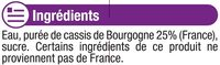 """Jus de cassis de Bourgogne """"fruits de chez nous"""" - Ingredients"""