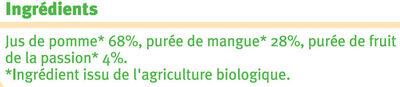 Pur jus de pomme de mangue et de passion - Ingrediënten - fr