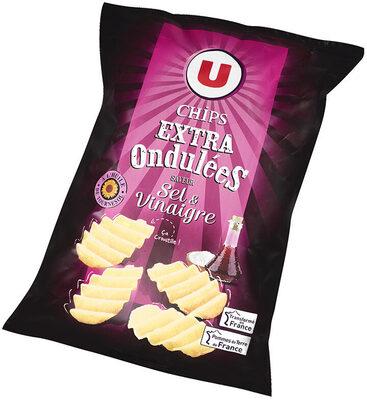 Chips extra ondulées saveur sel et vinaigre - Produit - fr