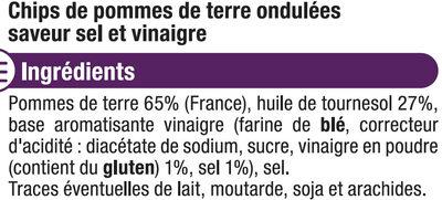 Chips extra ondulées saveur sel et vinaigre - Ingredients
