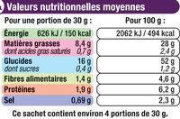 Chips extra ondulées saveur sel et vinaigre - Informations nutritionnelles - fr