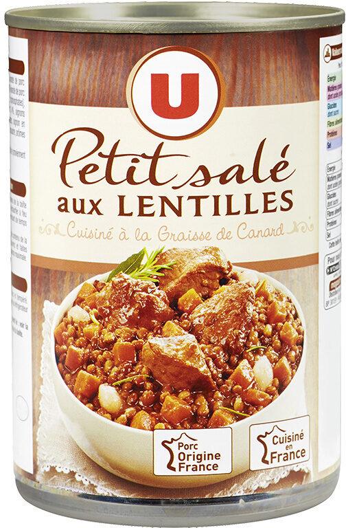 Petit salé aux lentilles cuisiné à la graisse de canard - Product - fr