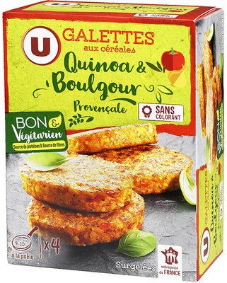 Galettes quinoa & boulgour provençale - Produit