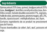 Galettes quinoa & boulgour provençale - Ingrédients